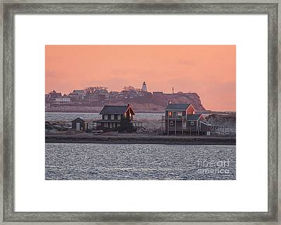 Long Beach And Gurnet Sunrise Framed Print