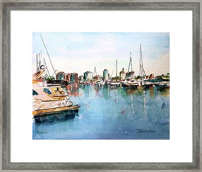 Long Beach Coastal View Framed Print