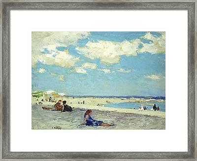 Long Beach Framed Print by Edward Henry Potthast