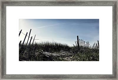 Long Beach Fence Framed Print