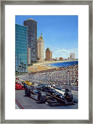 Long Beach Grand Prix 1984 Framed Print by Randall R Quick