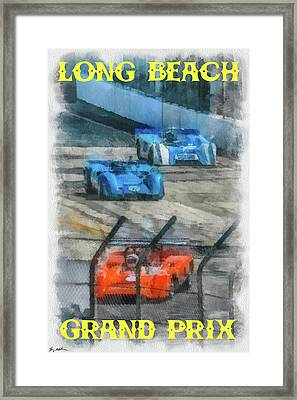 Long Beach Grand Prix Poster Framed Print