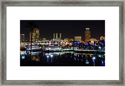 Long Beach Lights Framed Print by Adam Pender