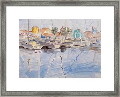 Long Beach Pier Framed Print by Jennifer Hotai