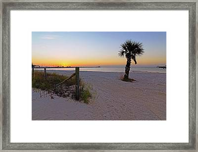 Framed Print featuring the photograph Long Beach Sunrise - Mississippi - Beach by Jason Politte