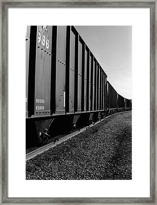 Framed Print featuring the photograph Long Black Train by Tara Lynn