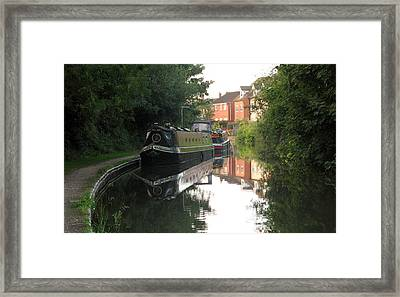 Long Boat On The Channel In England Framed Print by Joyce Woodhouse