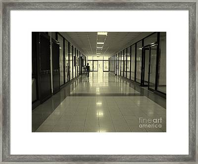Long Corridor Framed Print