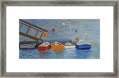 Long Cove Dock Framed Print