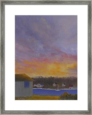 Long Cove Sunrise Framed Print