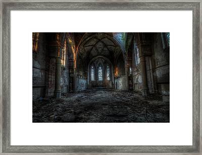 Long Dark Church Framed Print
