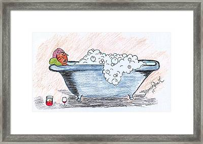 Long Day Framed Print by Diamin Nicole