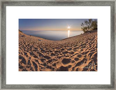 Long Descent To Sunset Framed Print