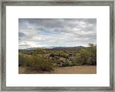 Framed Print featuring the photograph Long Desert View by Gordon Beck