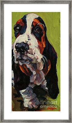 Long Dog Framed Print