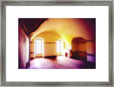 Long Empty Room Framed Print by Garry Gay