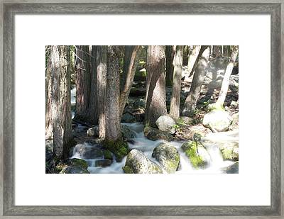 Long Exposure Waterfall Framed Print by Bransen Devey