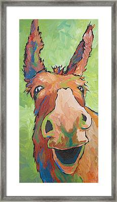 Long Face Framed Print by Sandy Tracey