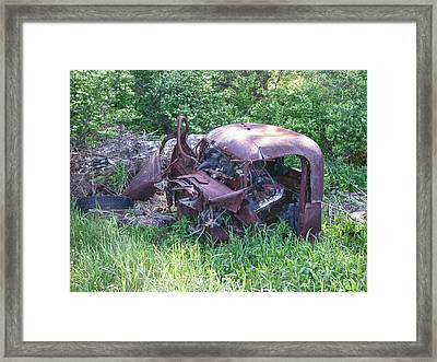 Framed Print featuring the photograph Long Forgotten 2808 by Guy Whiteley