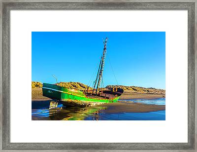 Long Forgotten Fishing Boat Framed Print by Garry Gay