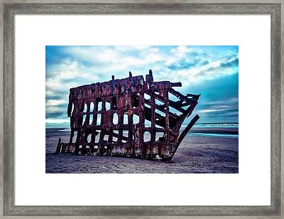Long Forgotten Shipwreck Framed Print by Garry Gay