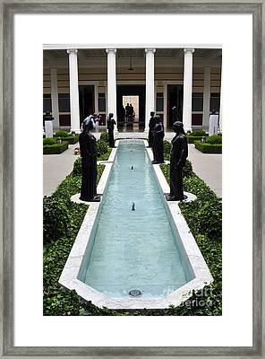 Long Fountain Framed Print by Clayton Bruster