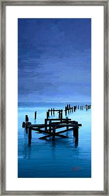 Framed Print featuring the painting Long Gone by James Shepherd