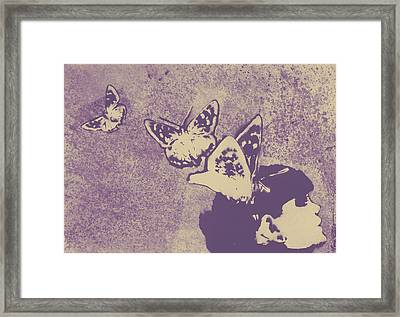 Long Gone Whisper - Amaranth Framed Print