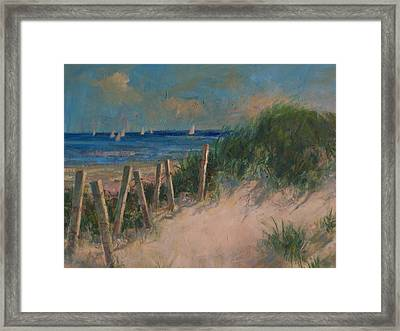 Long Island Dunes Framed Print