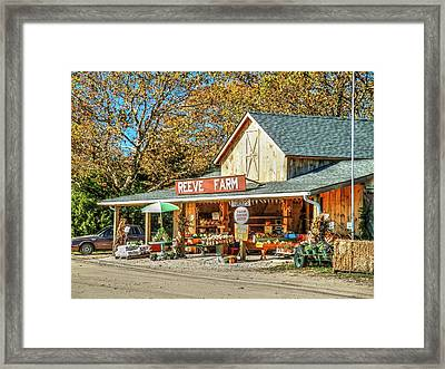 Long Island Farmstand Framed Print by Terry McCarrick