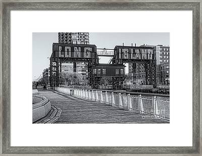 Long Island Railroad Gantry Cranes Iv Framed Print by Clarence Holmes
