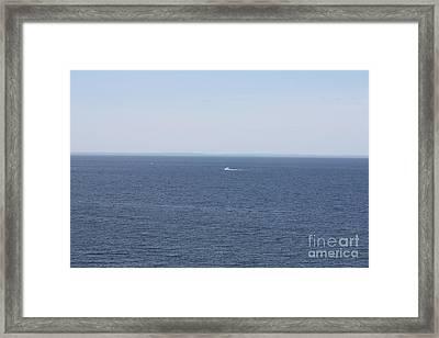 Long Island Sound In Wading River Framed Print by John Telfer
