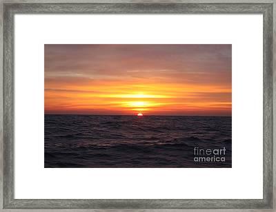 Long Island Winter Sunrise Framed Print by John Telfer