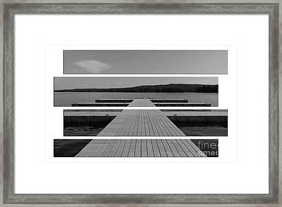 Long Lake Dock Framed Print