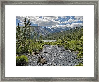 Long Lake In The Indian Peaks Wilderness Colorado Framed Print