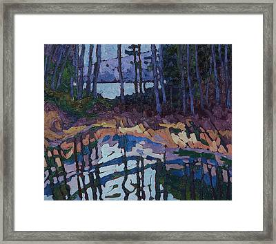 Long Lake Marsh Forest Framed Print by Phil Chadwick