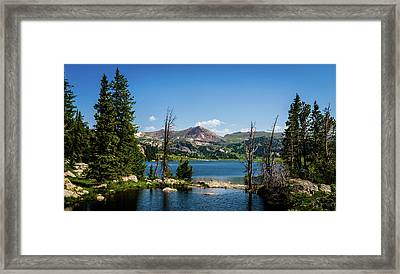 Framed Print featuring the photograph Long Lake Wyoming No. 2 by TL Mair