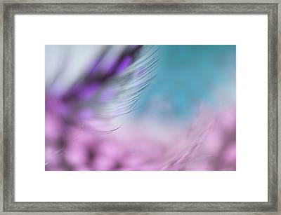 Framed Print featuring the photograph Long Lashes. Angels Flight Series by Jenny Rainbow