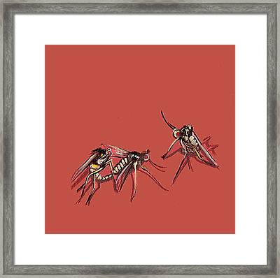 Long-legged Flies Framed Print by Jude Labuszewski
