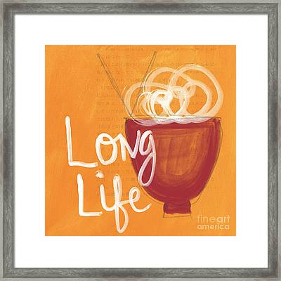 Long Life Noodle Bowl Framed Print by Linda Woods