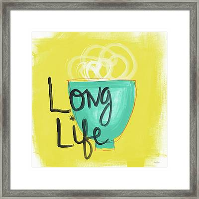 Long Life Noodles- Art By Linda Woods Framed Print by Linda Woods