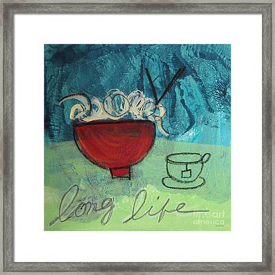 Long Life Noodles Framed Print by Linda Woods
