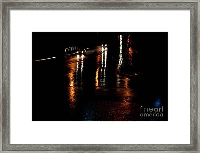 Long Lights At Night Framed Print by Gary Chapple