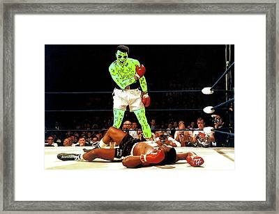 Framed Print featuring the painting Long Live Ali by Chief Hachibi