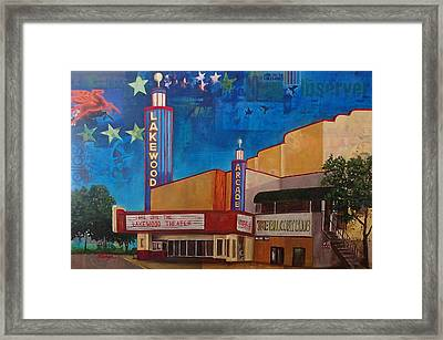 Long Live The Lakewood Theater Framed Print by Katrina Rasmussen