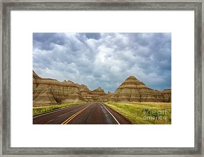 Long Lonesome Highway Framed Print