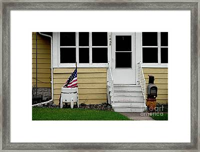 Long May It Wave Framed Print by Bruce Crummy