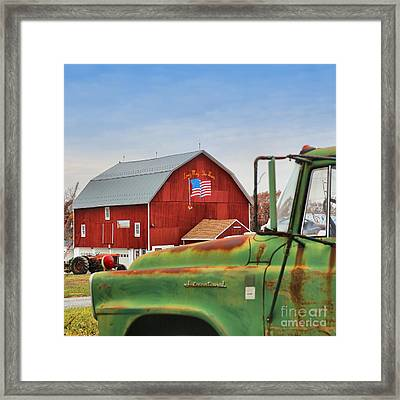 Framed Print featuring the photograph Long May She Wave by DJ Florek