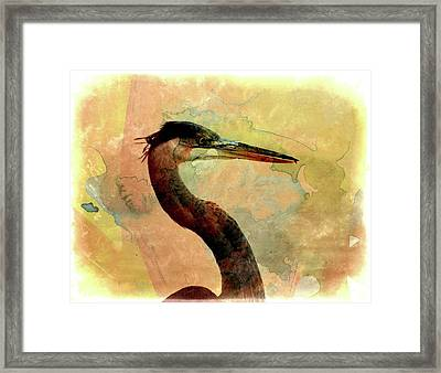 Long Neck 2 Framed Print by Marty Koch