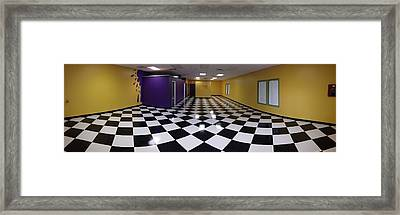 Framed Print featuring the digital art Long Perspective by Digital Art Cafe